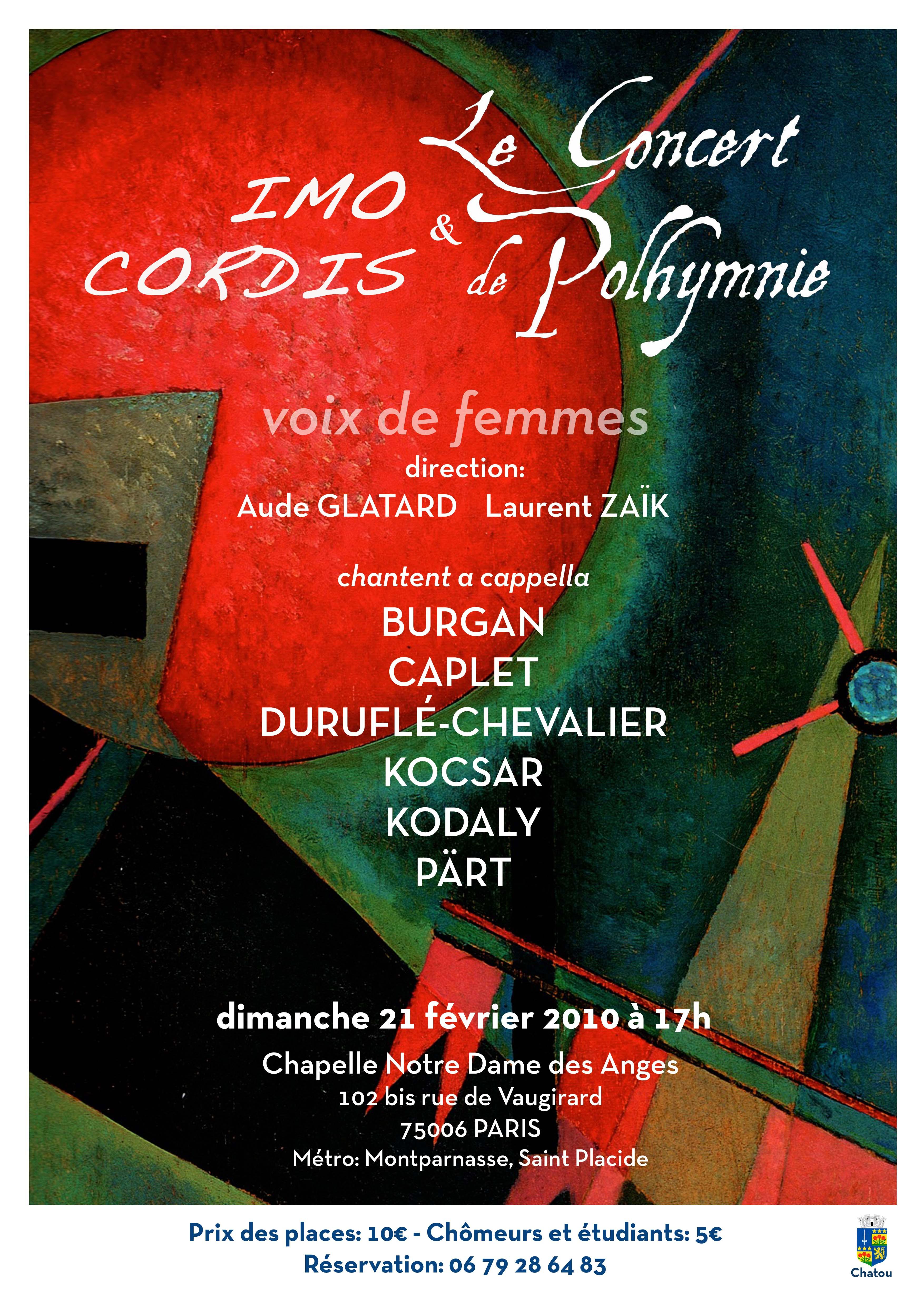IMO CORDIS Concert 21 Février 2010