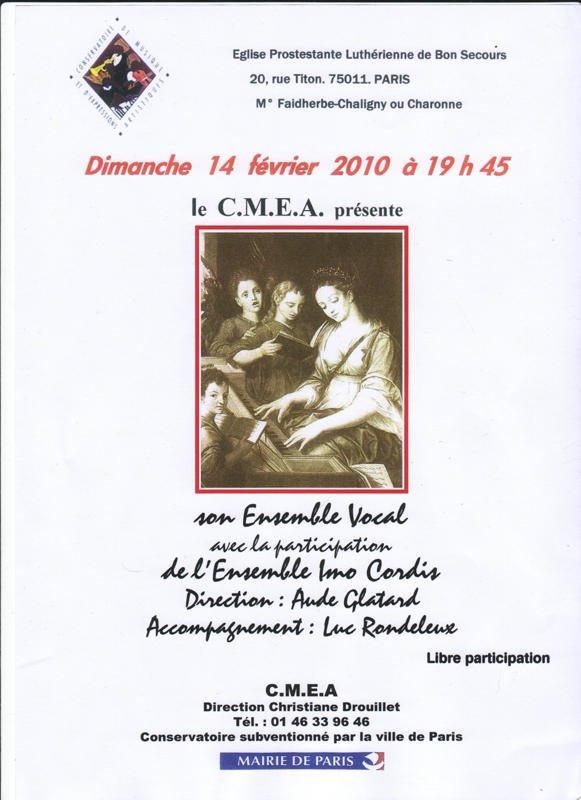 affiche CONCERT 14fév2010